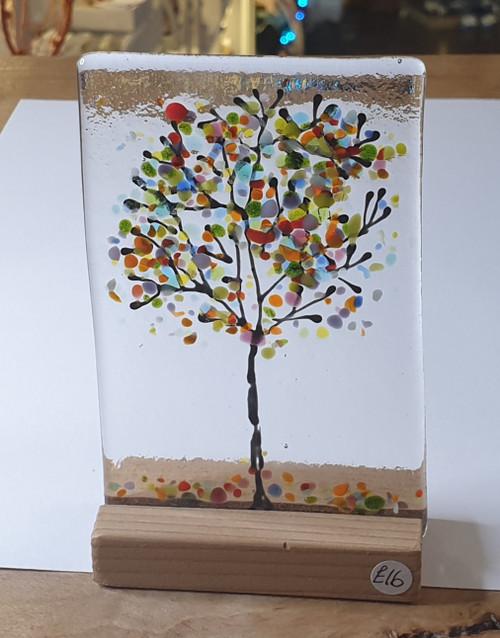 Glass Art - Multicolour Tree