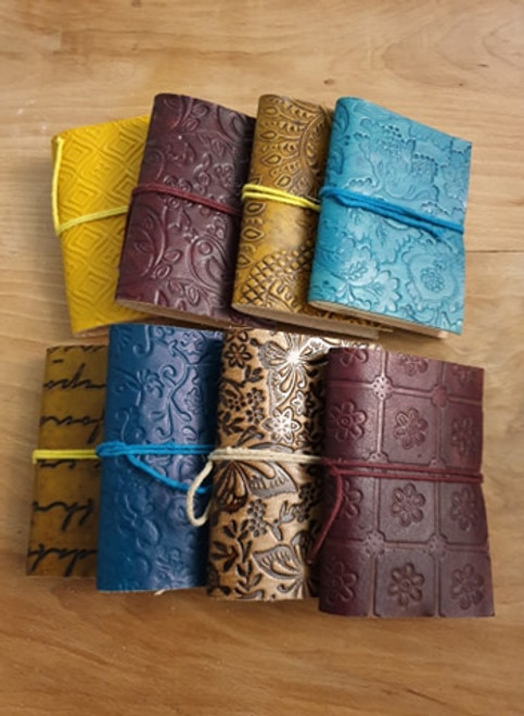 Mini Leatherbound Journal (assorted colours)