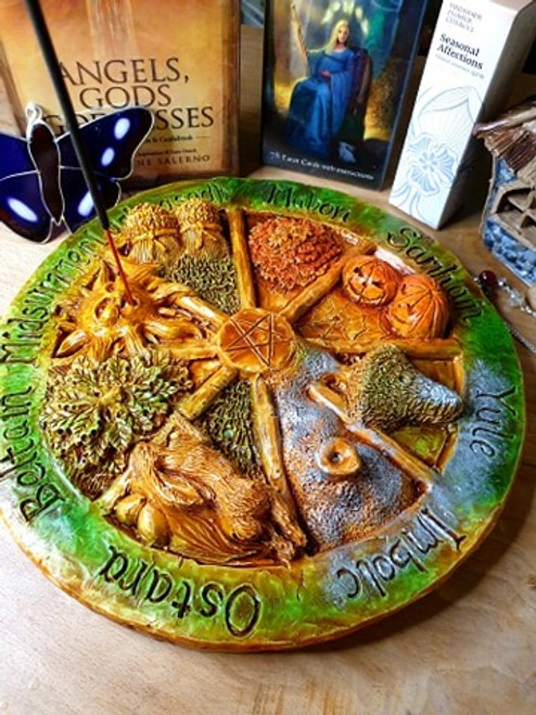 Wheel of the Year Incense Plate