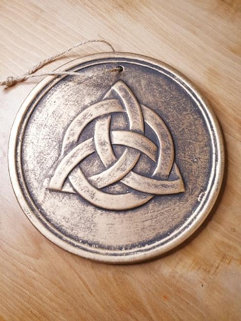 Triquetra Round Wall Plaque (Bronze)