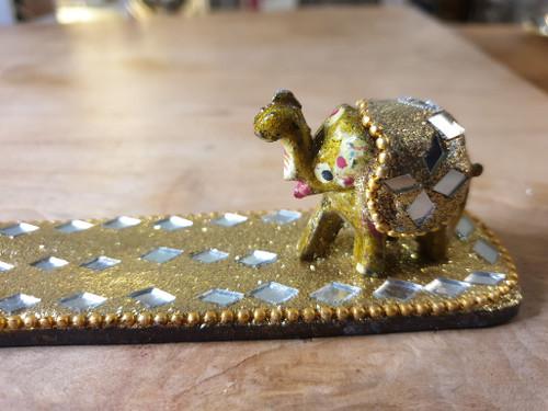 Sparkly Elephant Incense Stick Holder (assorted colours)