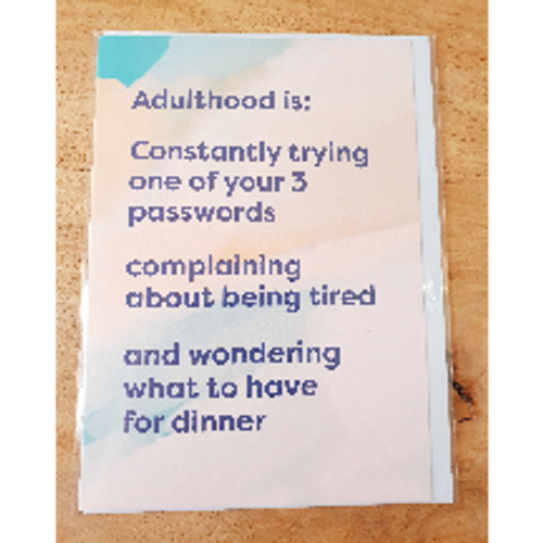 Card - Adulthood
