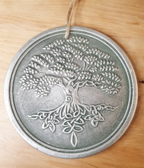 Tree of Life Round Wall Plaque (Silver)