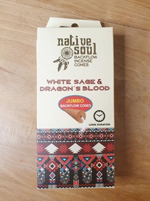 Native Soul Sage & Dragon's BLood Backflow Incense Cones