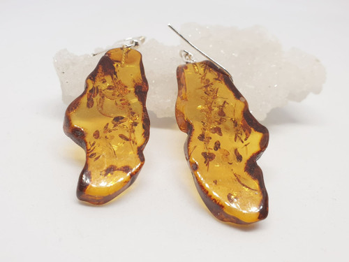 Amber Slice Earrings
