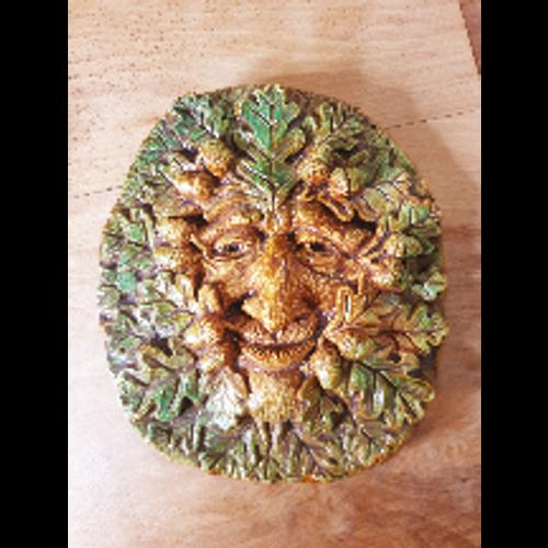 Green Man Oak Plaque