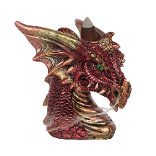 Red Dragon Backflow Incense Burner
