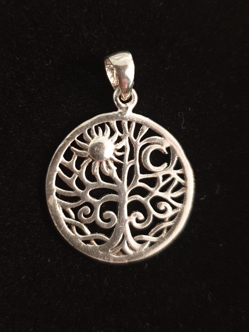 Tree, Moon & Sun pendant