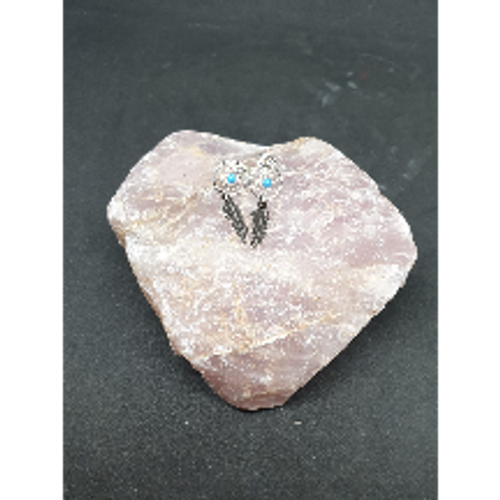 Dreamcatcher Stud Earrings (Turquoise)