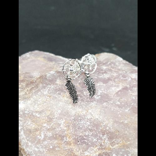 Dreamcatcher Stud Earrings (Silver)