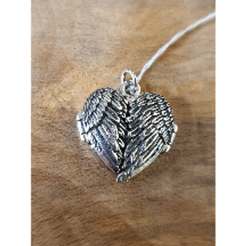 Angel Wings Silver Locket