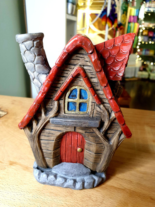 Fairy House Incense Burner - Red