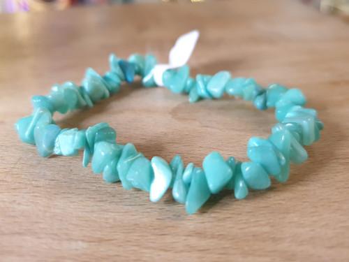 Gemstone Chip Bracelet - Hemimorphite