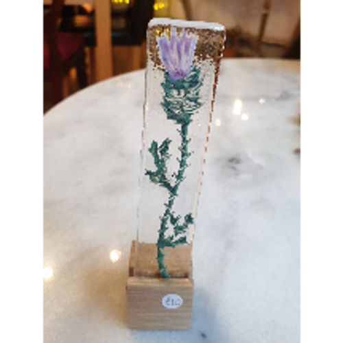 Glass Art Stand - Thistle