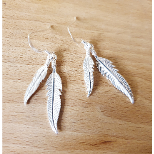 Double Feather Earrings