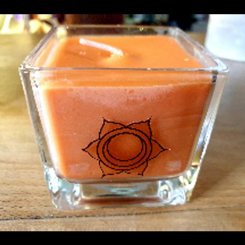 Chakra Glass Candle - Sacral Chakra