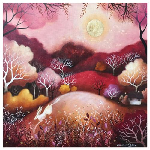 Card - Rose Moon