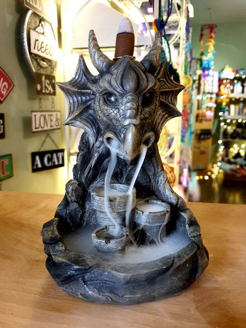 Stone Dragon Backflow Incense Burner