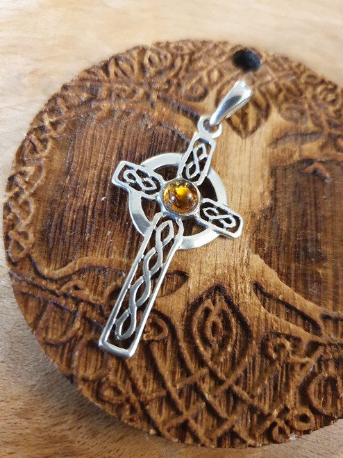 Celtic Cross with Baltic Amber