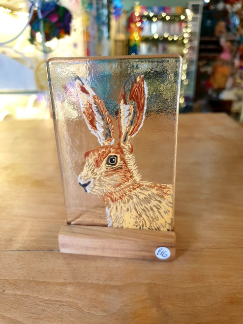Glass Art Stand - Hare