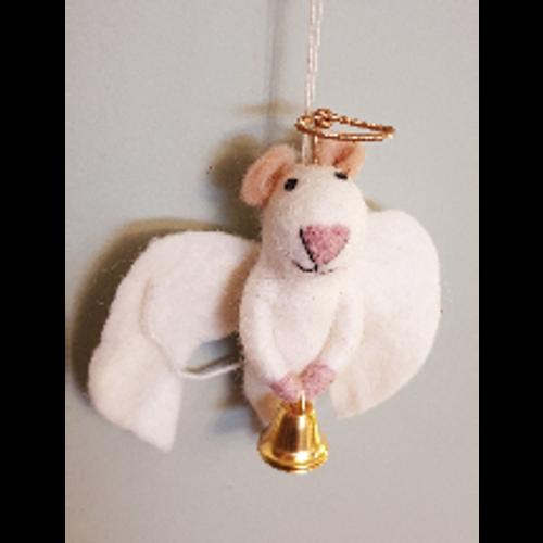 Angel Mouse Felt Decoration