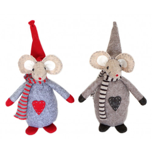 Christmas Mouse Doll (17cm)