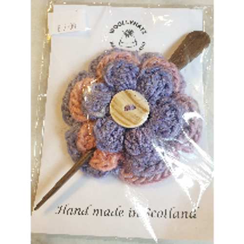 Crochet Hairpin - Rose & Lavender