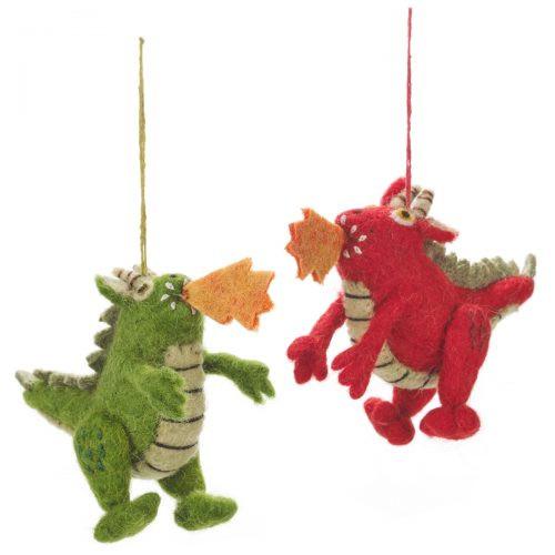 Felt Dragon (Red/Green)