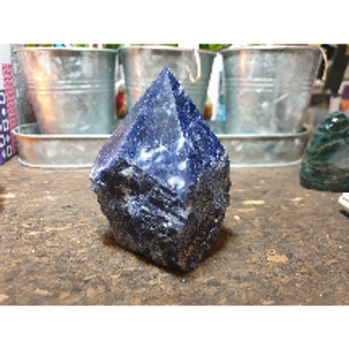 Sodalite Rough /Smooth Point
