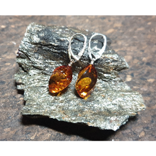Amber Flame Drop Earrings