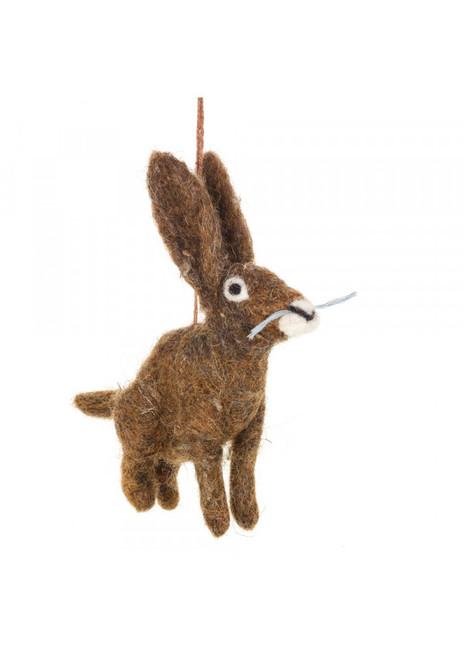 Felt Hare Decoration