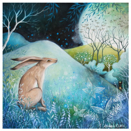 Card - The Hare and Moon