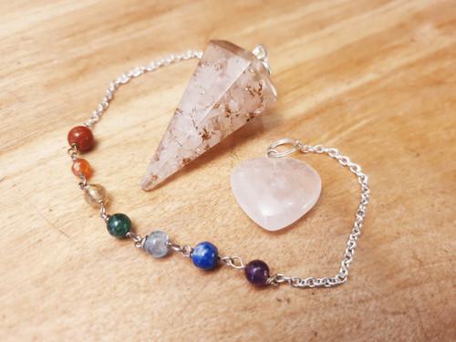Rose Quartz Orgonite Chakra Pendulum