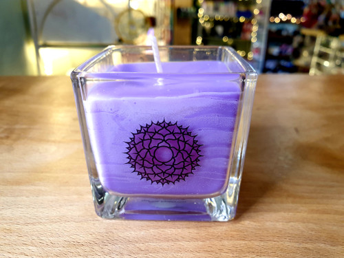 Chakra Glass Candle - Crown