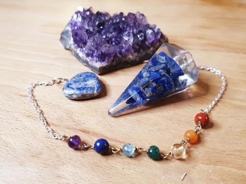 Lapis Lazuli Orgonite Chakra Pendulum