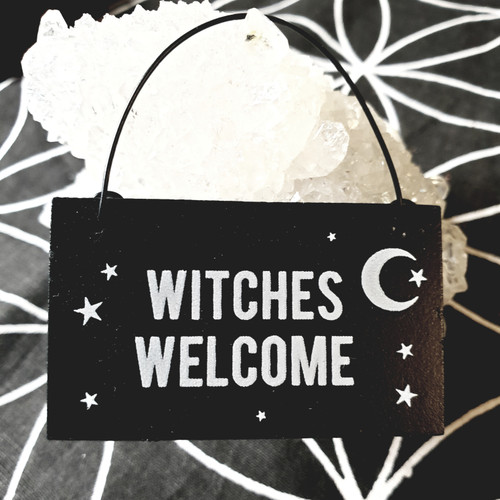 Mini Witch Sign - Witches Welcome
