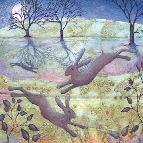 Card - Moonlight Hares