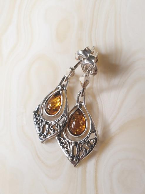 Amber Earrings AE002