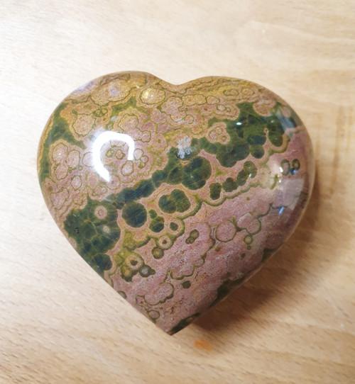 Crystal Heart - Orbicular Jasper (60mm)