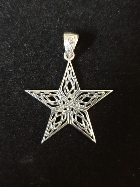 Celtic Knotwork Pentagram Pendant