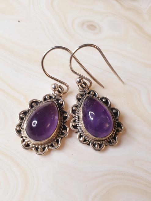 Amethyst Ornate Drop earrings