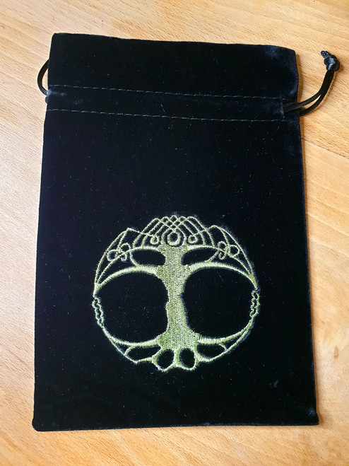 Tarot Pouch - Black with Tree of Life