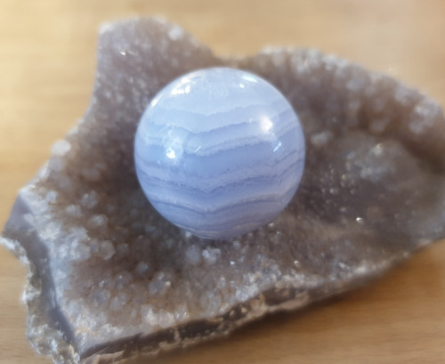 Blue Lace Agate Sphere (25mm)