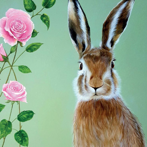 Card - Hare and Roses