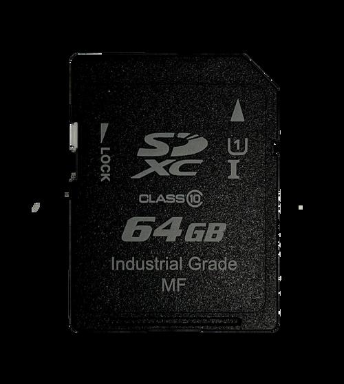 Industrial Grade Extended Temp MLC SDXC 64GB ~ 256GB