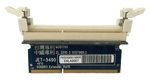 JET-5490 - NEW (DDR3 SODIMM Extender for All-in-One board, Mini Board Testing)