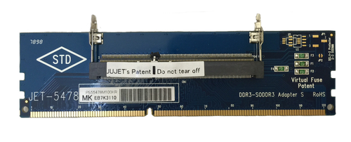 JET-5478MK V.2 (DDR3 204pin SODIMM Adapter with Metal-Guide - 1600Mhz)