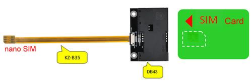 B3514A-DB43 (Nano SIM to SIM Card Extender)