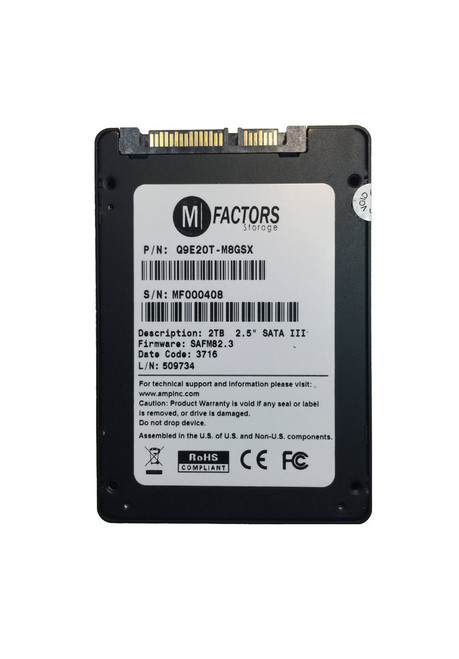 "2.5"" SATA SSD Optional pFAIl MLC NAND E910"