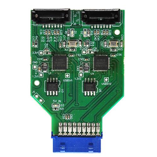 U1903A  (Dual SATA to USB3.0 19P Header)